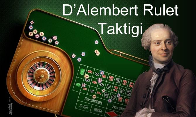 D'Alembert Rulet Stratejileri